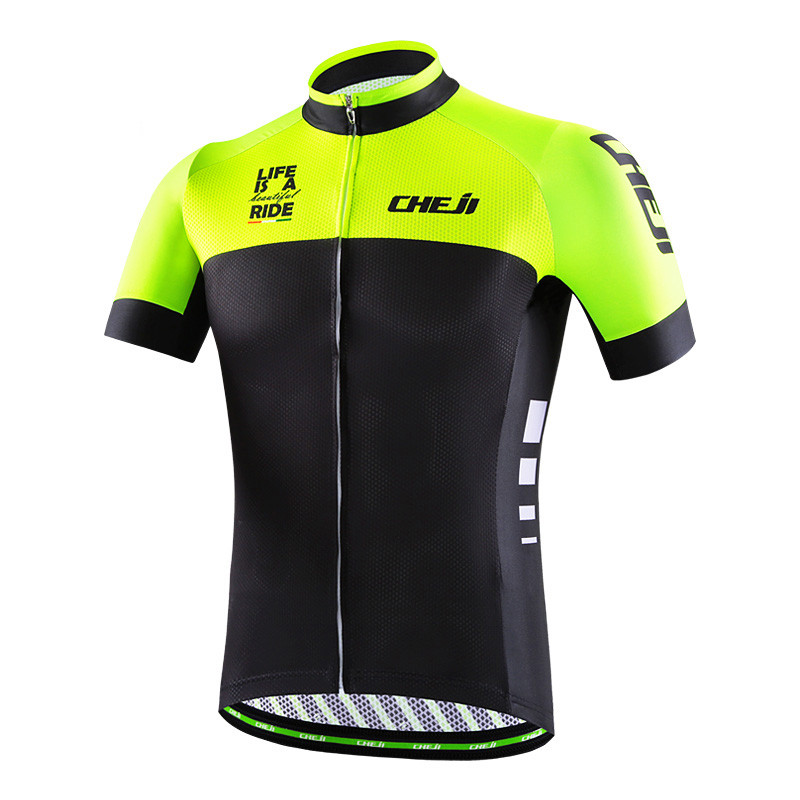 Prix pour Cheji Hommes Cyclisme Maillot Ropa Ciclismo Racing Sports Cyclisme Vêtements Maillot VTT Vélo Vélo Vêtements Randonnée Shirt Veste