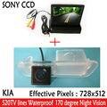 Acessórios do carro Paking HD Revere SONY CCD Câmera de Visão Traseira Do Carro com 4.3 polegada Retrovisor Do Carro Monitor Espelho Para Kia K2 RIO Sedan