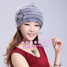 Female Winter Plus Size Thermal Thickening Mink Fur Hat Women Mink Winter Thicke