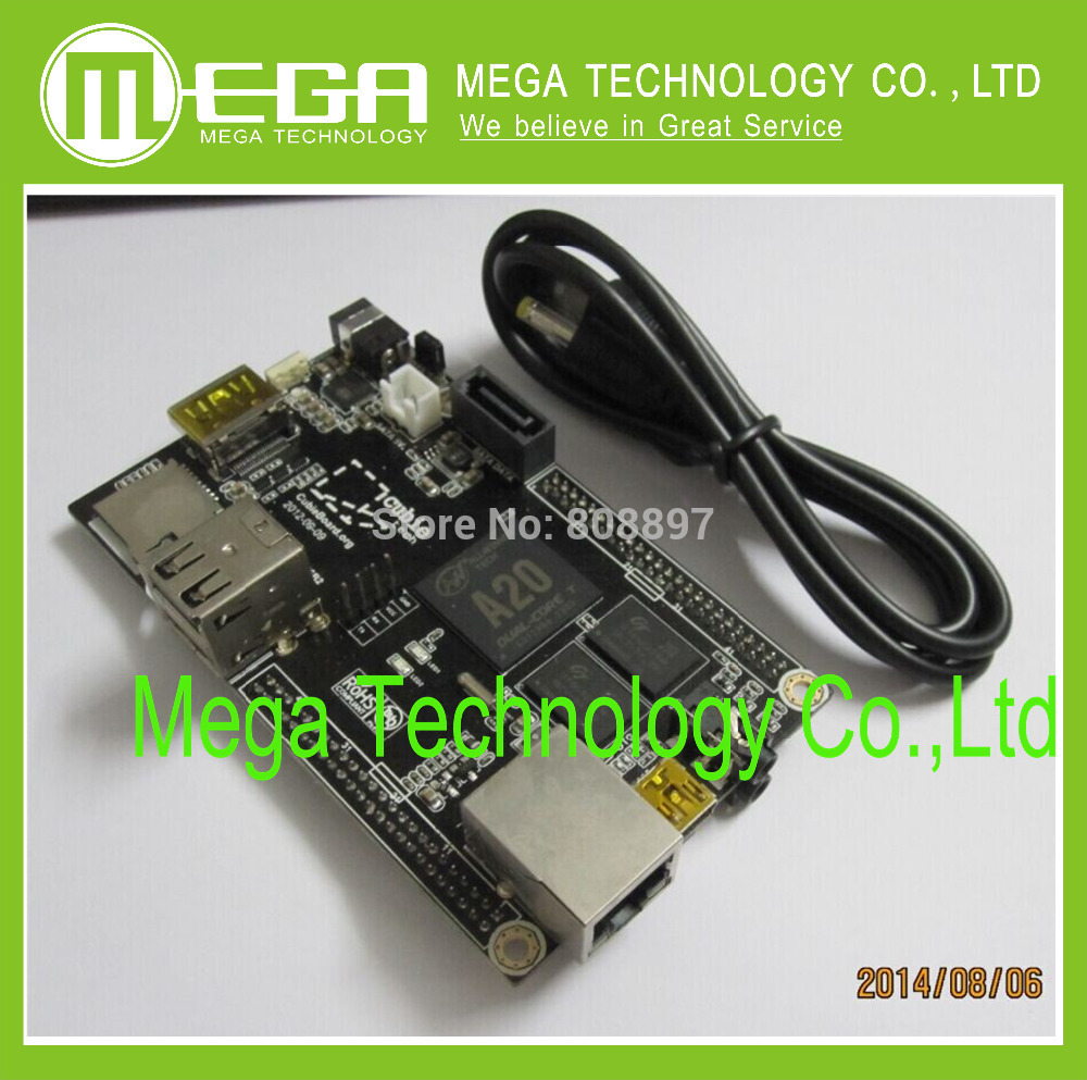 1pcs PC Cubieboard A20 Dual core Development Board , Cubieboard2 Dualcard version , CB2 2CARD (with 2 TF card socket)