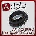 ª ajustável af confirmar adapter terno para mamiya 645 lens para canon e0s EF 60D 60Da 50D 40D 5D 7D 550D 600D 500D 5D ll Câmera