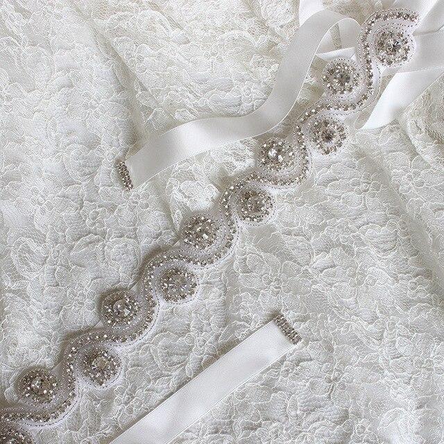 2cm*175cm New Colors Handmade crystal rhinestone Beaded embellishment waist belt Wedding Bridal Sash women costume Belt