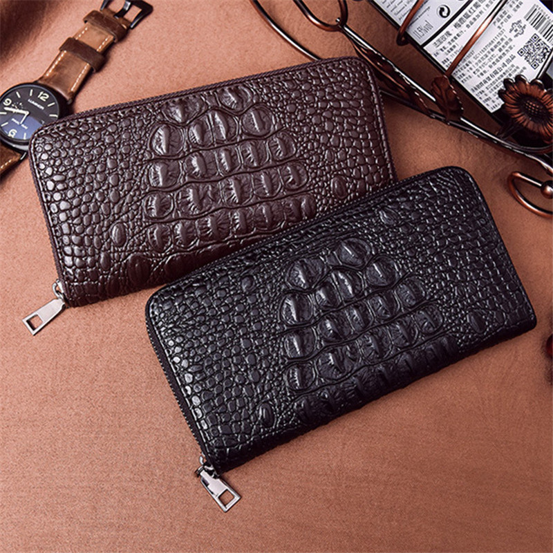 Fashion Mens Wallets Coin Wallet ceremonial Long Wallets Men Purse ID Credit Card Holder Multi-card bit Zipper Pocket