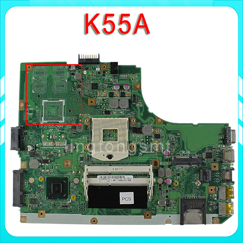 все цены на for ASUS K55A laptop motherboard k55VD Maindboard integrated DDR3 60-N89MB1301-A05 full tested 100% Tested онлайн