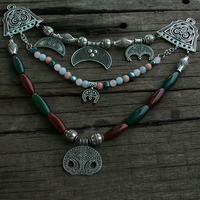Lanseis 1pcs Dropshipping Slavic Jewelry Makeing For Women Pendant, Ethnic Style Necklace Slavic Lunula Jewelry For Cool Men