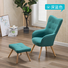 Living Room Sofas chair Living Room Furniture Home Furniture wood fabric lazy sofa stool sets couches fashion recliner high end