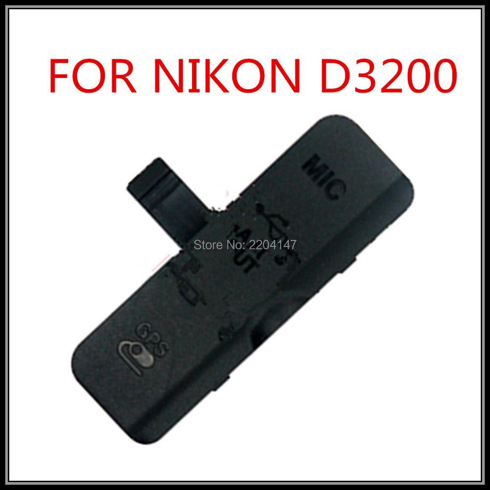 FREE SHIPPING 100% Original New Left cover USB Gum Rubber MIC A/V HDMI GPS  for Nikon D3200