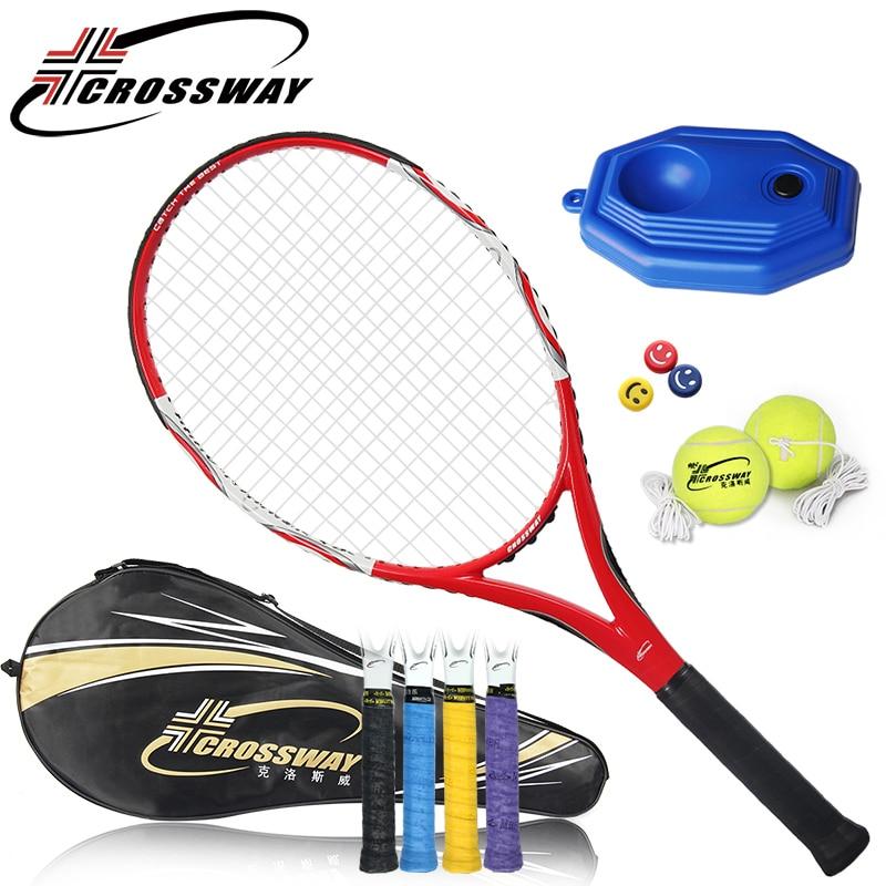 CROSSWAY 1PC Training Racket Tennis Rackets Tennis Racquet racchetta da tennis degli uomini Raquette Fitness outdoor sports 802