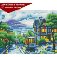 LED Light Full Round Drill 5D DIY Diamond Painting 40x50cm