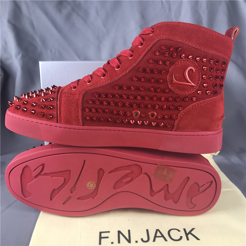 FNJACK Fashion Hohe Qualität Red Bottom Sneakers Wildleder - Herrenschuhe - Foto 2