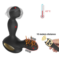 Heating Rotation Anal Plug Vibrator Male Prostate Massager G Spot Stimulator Wireless Remote Butt Plugs Machine Sex Toys For Man