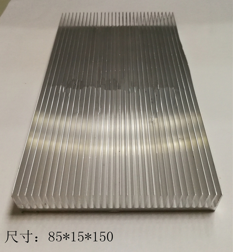 High-power Aluminum Radiator 85*15*150mm PCB Amplifier Heat Sink Profiles Can Be Customized Components Cooling