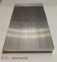 Os perfis do dissipador de calor do amplificador do pwb do radiador de alumínio de alta potência 85*15*150mm podem ser refrigerando personalizados dos componentes