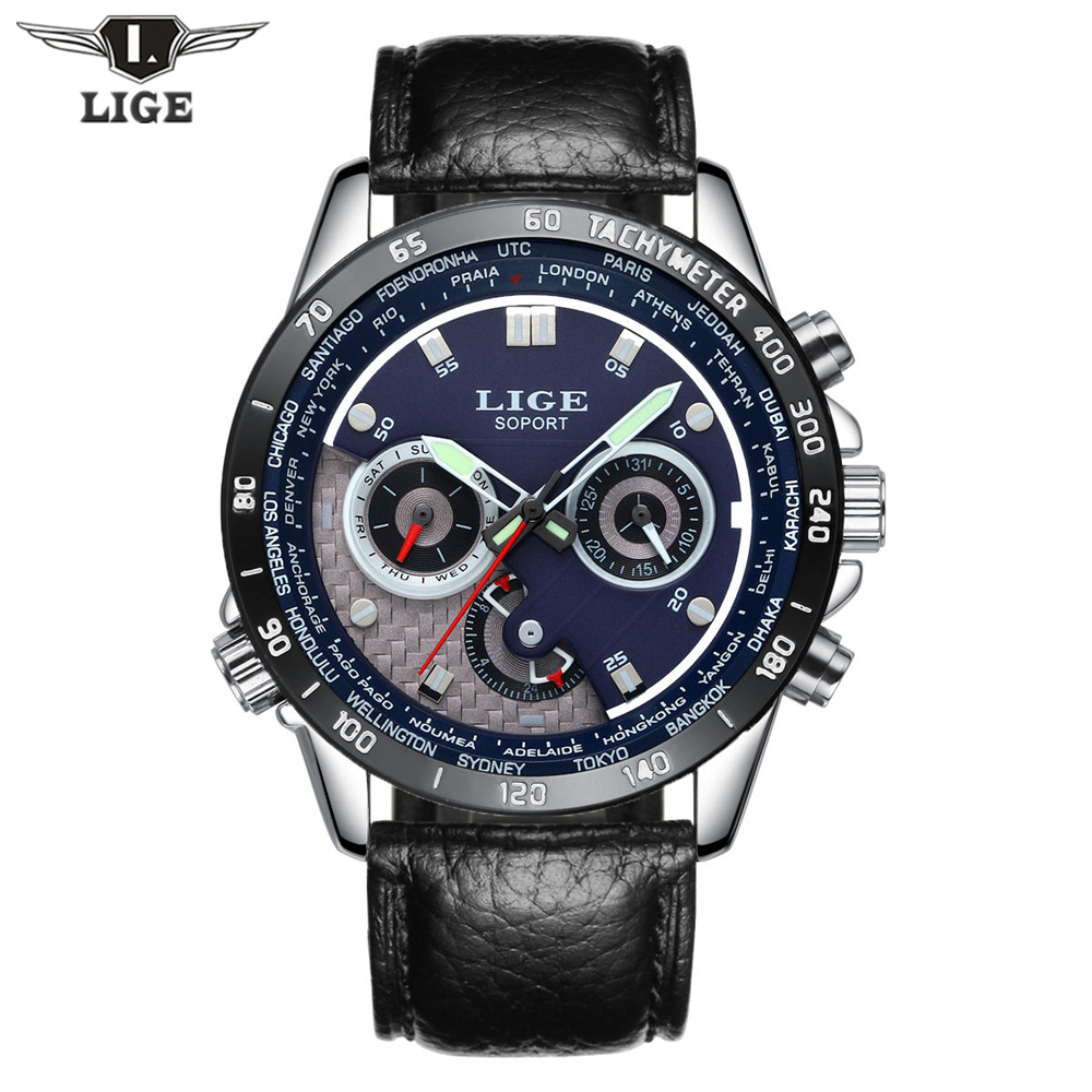 2017 Relogio masculino LIGE Mens Watches Top Brand Luxury Fashion Casual Quartz Watch Men Sport Full Steel Waterproof Wristwatch levett anal butt plug prostate massager vibrator remote control 8 speed adult sex toys for men erotic sex shop
