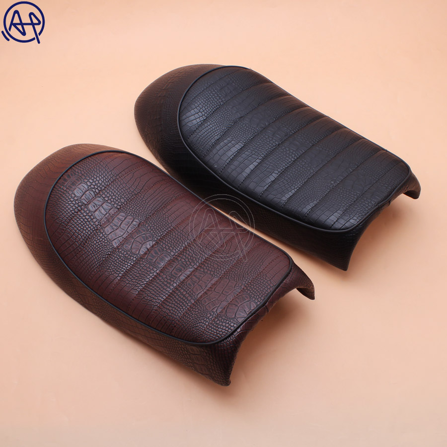 Motorcycle Brown Crocodile Vintage Seat Retro Saddle For Honda CB CL Cafe Racer CG125 CB200 CB350 CB400 CB500 CB750 SR400
