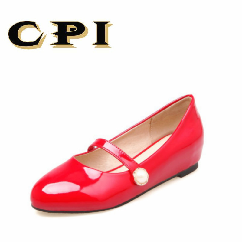 CPI 2018 New spring and autumn fashion comfortable women shoes single Flat shoes Shallow mouth mary janes patry sexy shoe NX-029 spring and autumn new women fashion shoes casual comfortable flat shoes women large size pure color shoes