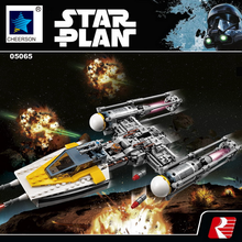 Star Wars Y-Wing Starfighter DIY Building Model Kits Boys Gift Compatible Legoes 75172