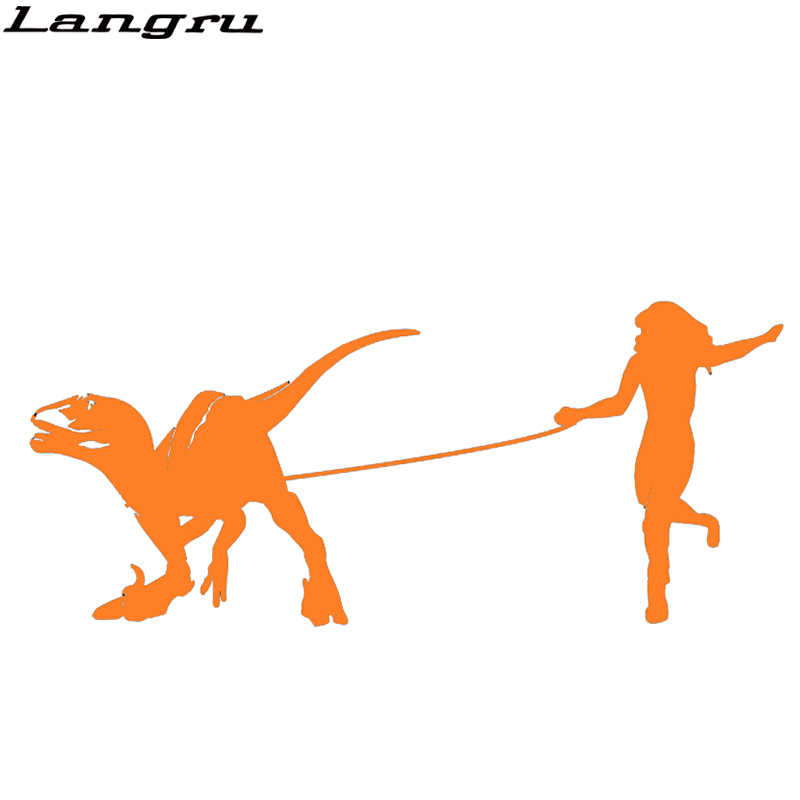 Langru Raptor Walker สวยเซ็กซี่ความงามถือสัตว์เลี้ยงไดโนเสาร์รถสติกเกอร์ตกแต่งรถไวนิล Decal Jdm