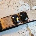 2015 новых корейских простой и стекло горный хрусталь пр флэш-декоративная эластичная пояс, Женщины пояса, Черный / коричневый