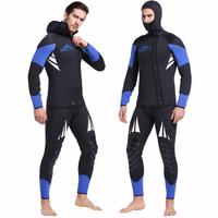 Hooded 5mm Wetsuits winter Premium Neoprene Wet Suit Full Body w/ Warm Fleece Lining Diving Suit Snorkeling Surfing Men 320