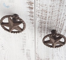 2pcs/lot Diameter:55mm European style metal hollow handle Five-pointed star  cabinet