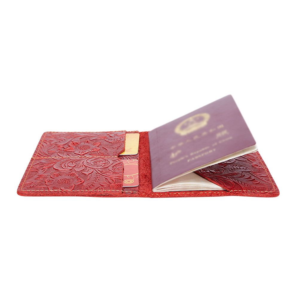 K018-Women Passport Cover Purse-Red-04(8)
