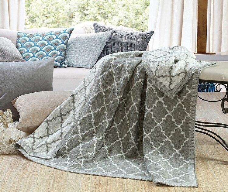 New gray green Spring/Autumn Nordic Knitted Throw blankets on Sofa/Bed Cobertor Cauda de sereia cobertor Plaid blanket 152*127cm