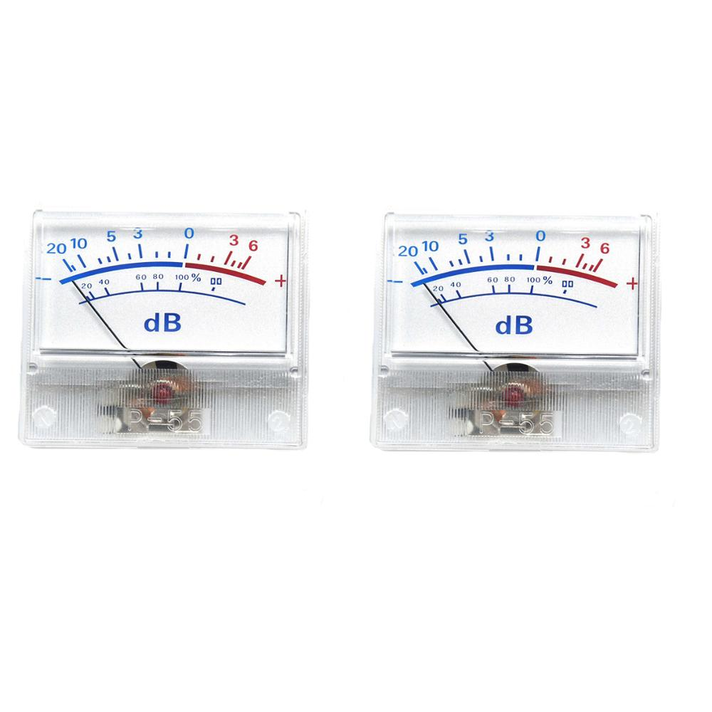 2pcs P-55 High-precision VU Meter Head <font><b>Audio</b></font> DB Level Meter Power <font><b>Amplifier</b></font> Tube DAC <font><b>Pre</b></font>-stage Power Sound Pressure Meter image