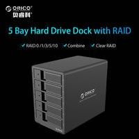ORICO 9558RU3 BK 5 Bay 3 5 USB3 0 ESATA Raid HDD External Enclosure HDD Docking