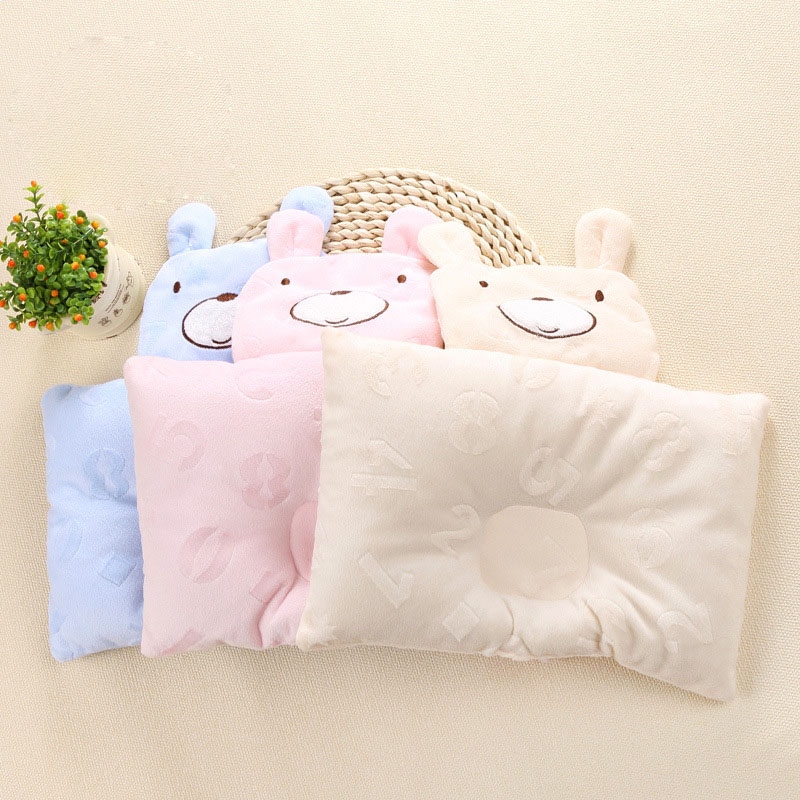 Free Shipping 1 pcs 3 Color Soft New Baby Sleep Pillow for Baby Bed Car Seat Cushion Kids Portable Bedroom Bedding BX001