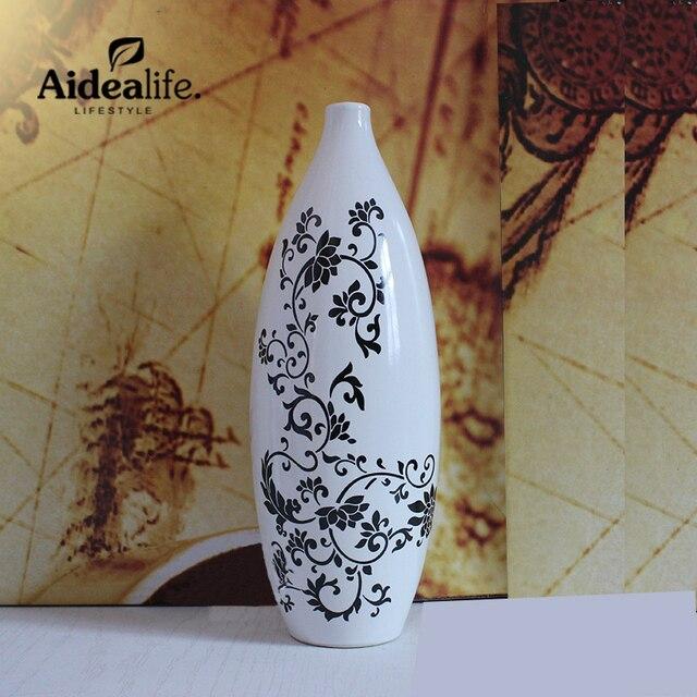 Weiß Schwarz Chinesische Vase Hause Dekoration Zubehör Moderne Vasen Für  Mittelstücke Für Hochzeiten Wohnzimmer Tisch Sets