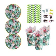 Jungle Animal Party Decor Paper Cup Plate Straws Napkins Summer Luau Birthday Anniversary Jungle Adventure The Jungle Book Decor usborne look inside the jungle