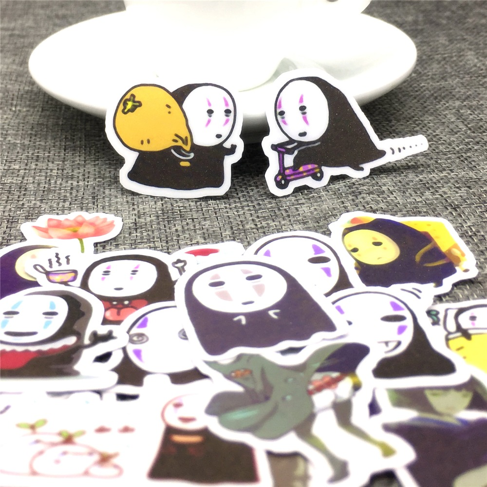 40 Pcs Look At The Black Face Paper Stickers Scrapbooking  Decoration DIY Toy PhoneAblum Diary Label Sticker Kawaii Stationery