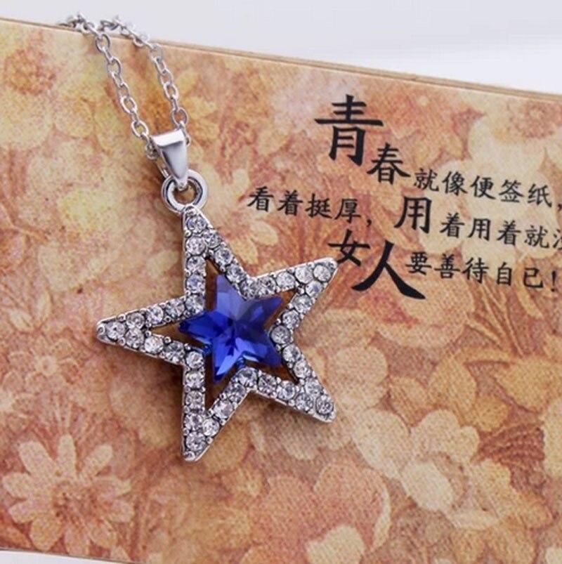 Manufacturer of spot wholesale fashion exquisite pentagram crystal pendant necklace - guardian planet 149