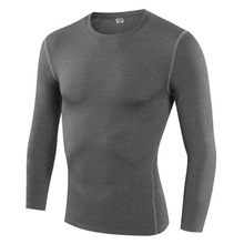 Men Fast Drying Perspiration Wicking Sport Running Gym T-Shirt Slim Body Training Shirt Long Sleeve free shipping