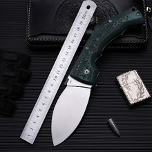 58HRC 440C blade Mikata handle Green folding knife tactical outdoor camping EDC tool Hunting Pocket Knife