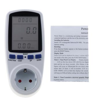 Cyfrowy miernik mocy ue wtyczka watomierz analizator mocy Watt kalkulator Monitor licznik energii analizator gniazda pomiarowego tanie i dobre opinie WHDZ Elektryczne 230 v Analogowe i cyfrowe