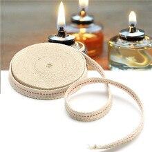 4,5 м футов белая плоская хлопковая спиртовая фитиль Масляная Лампа Фитили горелка для стеклянных масляных ламп аксессуары