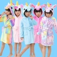 Детские халаты с капюшоном в виде единорога; детская одежда для купания с изображением звезды и радуги; Пижама для мальчиков и девочек; ночн...