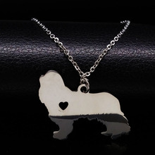 Stainless Steel Cavalier King Charles Spaniel Dog Necklace For Women Jewelry Animal Charms Pet Necklace Memorial Gift N72212B