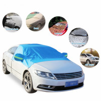 GLCC Car Sunshade Outdoor Protection Vehicle Dustproof Snowproof Windshield Cover Half   Auto   Car Styling for Sedan SUV