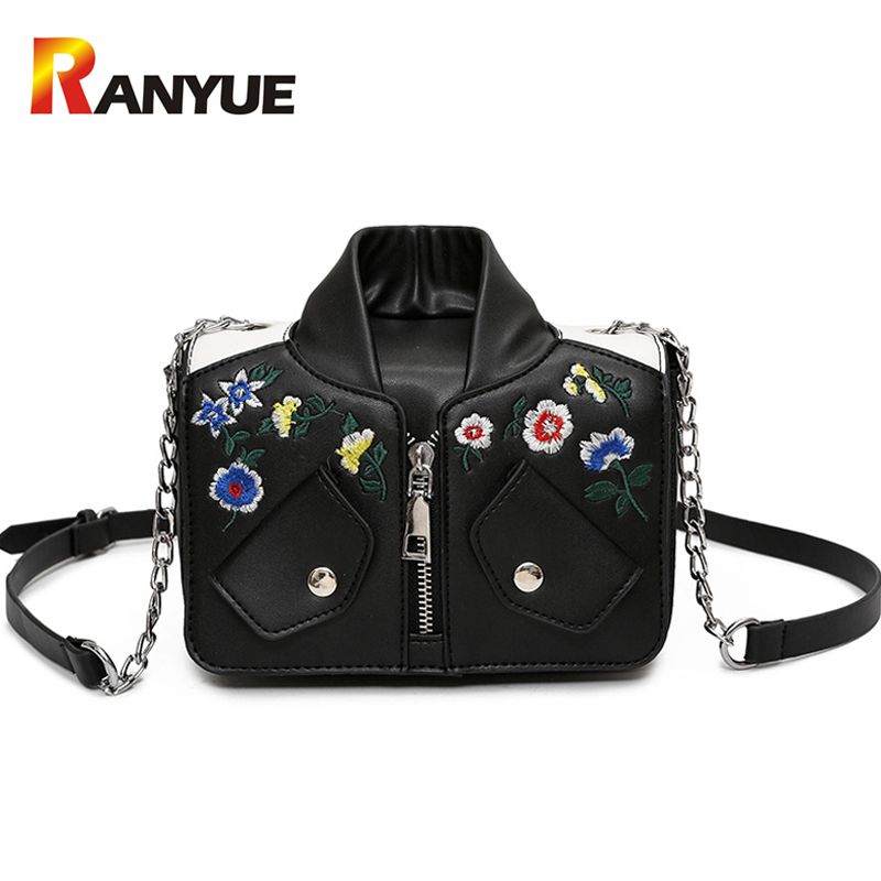 Fashion Floral Chains Women Embroidery Bags Handbag Small Women Messenger Bags J