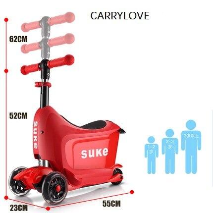 CARRYLOVE multifonction Super planche à roulettes montable et amovible ABS bagages à roulettes valise de voyage de marque Spinner