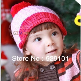 fbd927f286c colorful kids winter hats with star and big ball on the top