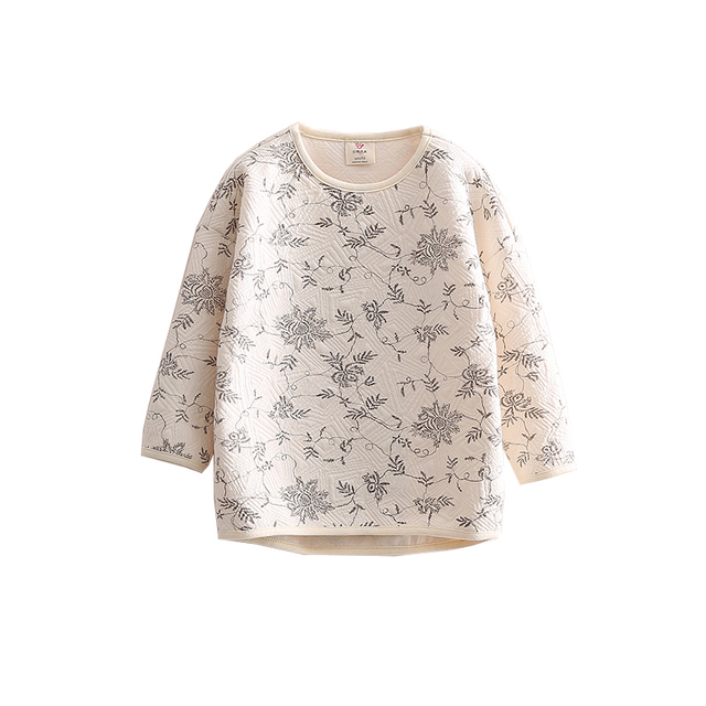 LittleSpring moda bebê roupas de menina crianças floral impresso algodão manga comprida meninas hoodies outono crianças casaco moletom com capuz top