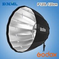 Godox портативный P120L 120 см Глубокий параболический софтбокс Bowens крепление студийная вспышка Speedlite отражатель Фотостудия софтбокс