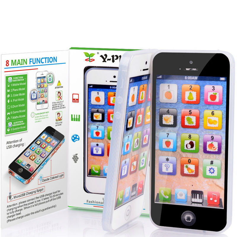 New English learning simulation mobile phone handset toys with USB ...