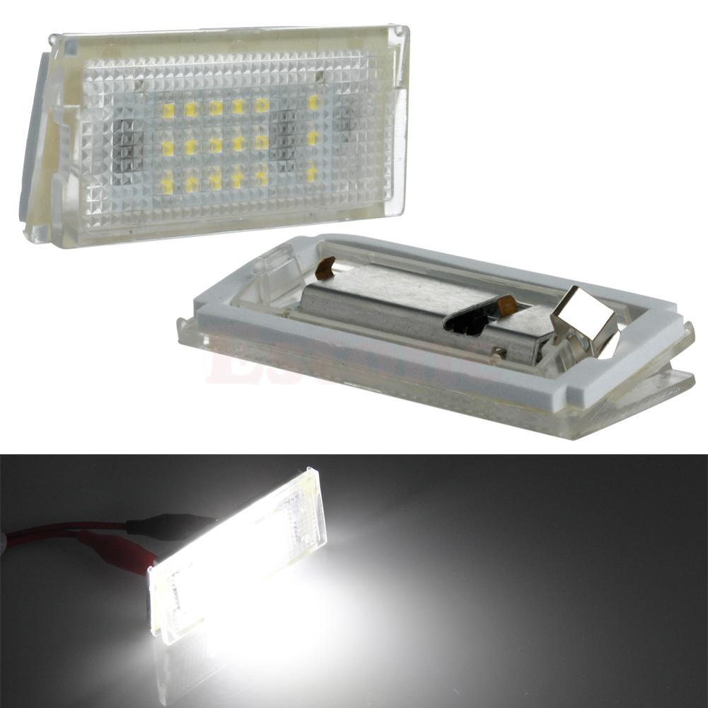 1 пара 18 <font><b>LED</b></font> Подсветка регистрационного номера ошибок лампы для BMW Mini Cooper R50 R52 <font><b>R53</b></font> Автомобильный источник света