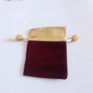 Image 5 - 200 ピースプノンペンゴールドビーズベルベットバッグジュエリーポーチギフトバッグ結婚式の巾着バッグ女性ジュエリーディスプレイギフト包装バッグ