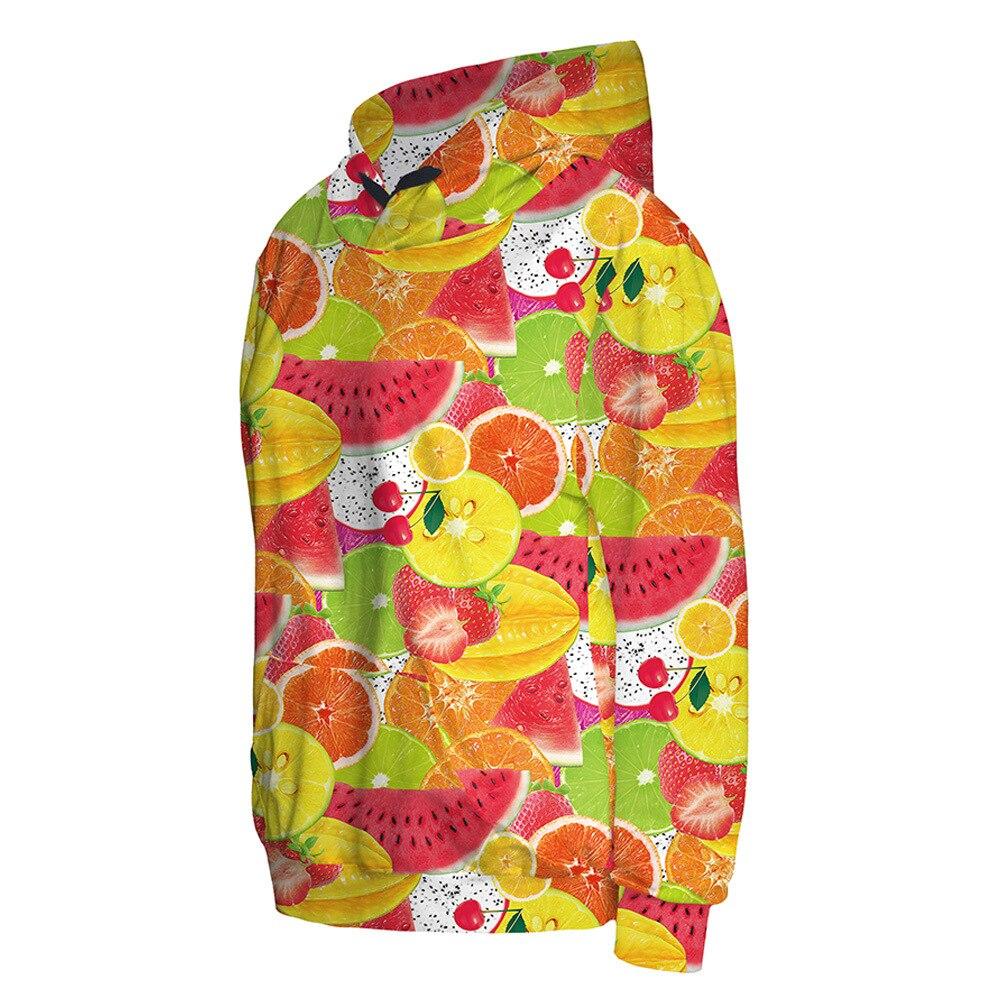 Новое поступление 3002 Harajuku осеннее пальто для девочек Тутти fruitti фрукты нарезанные с принтом толстовка с капюшоном Фитнес снаружи Для женщин...